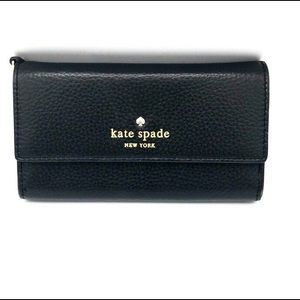 Kade Spade New York Black wallet/ phone case.